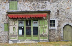 Store mécanique ancien café
